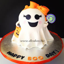 birthday cakes for halloween halloween cake girly ghost cake dl cakes baking is my hobby