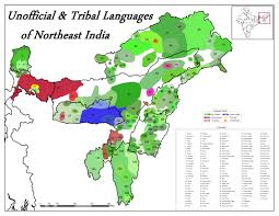 North India Map by I Made A Map Of The Astounding Linguistic Diversity In Northeast