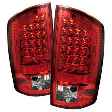 2008 dodge ram tail light bulb size 07 08 dodge ram 1500 2500 3500 red clear housing led tail lights