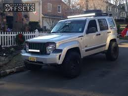 jeep liberty lifted wheel offset 2009 jeep liberty aggressive 1 outside fender