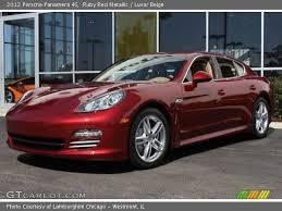 Panamera Red Interior Ruby Red Metallic 2012 Porsche Panamera 4s Luxor Beige