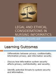 thesis title related in nursing course   Documents Legal and ethical considerations in nursing informatics