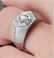 diamond man rings images Cool silver man ring sona sterling silver 1carat synthetic jpg