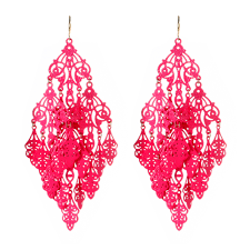 pink earrings gabrielle earring shop amrita singh jewelry