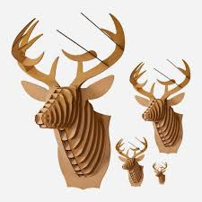 seeking something cardboard deer head trophy