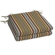 hampton bay stripe outdoor seat cushions outdoor chair