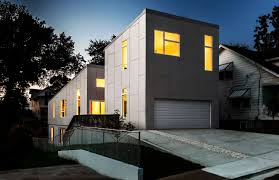 modern home degree house designed howeler yoon architecture front yard modern house lighting ideas with gray exterior design cement flooring tile and