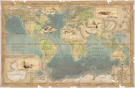 Agartha Map Green Geo Hollow Earth