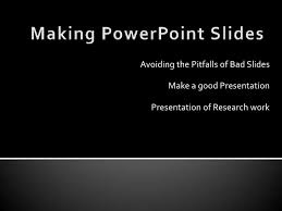 presentation of research work