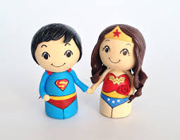 superman cake toppers superman wonderwoman wedding cake toppers tessa s figurines