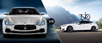 maserati luxury 2016 maserati ghibli vs 2016 tesla model s