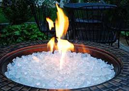 Firepit Glass 10 Lbs White Crystals Pit Glass Rocks For Fireplace