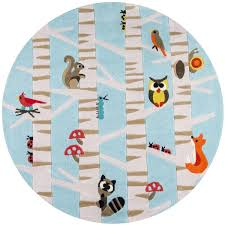 Kids Animal Rugs Animal Print Rug Area Or Accent Forest Critters Rug