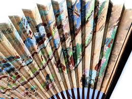 Oriental Wall Fans by Oriental Paper And Bamboo Wall Fan From Artgate On Ruby Lane