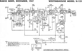 westinghouse model h 133 schematic u0026 parts list december 1947