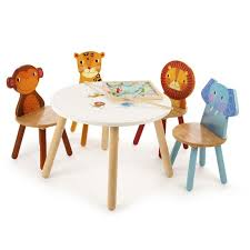 jungle safari animals childrens table and 2 chairs