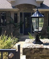 solar powered pillar lights round extra large solar post cap lights solar pillar lights