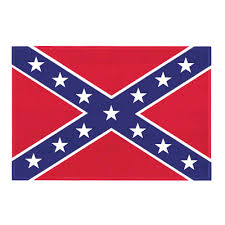 Hatis Flag Confederate Flag Static Cling Decal