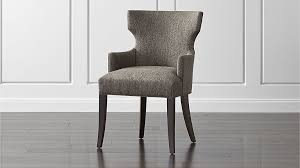 Black Arm Chairs Design Ideas Upholstered Dining Arm Chair Crate And Barrel Throughout