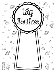 big brother coloring page