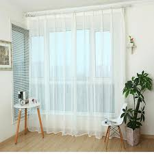 White And Yellow Curtains Custom Curtains Simple Modern Cross Cotton Linen Bedroom