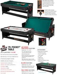 Fat Cat Black 7 Pockey Table 3 In 1 Game Table