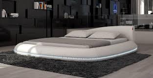 Modern Platform Bed With Lights - modern eco leather bed w led lights