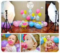 setup we used for balloon and cake smash session had balloons