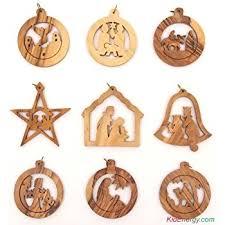 one dozen 12 resin nativity ornaments 3 5