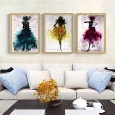 living room prints modern abstract fashion beauty art canvas painting prints posters