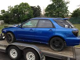subaru impreza modified blue 2002 subaru wrx wagon full part out
