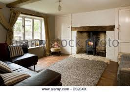 cottage living rooms cosy cottage sitting room with wood burning stove and linen stock