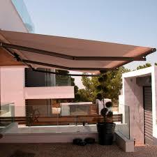 folding arm awning manual motorized balcony stein shadelab