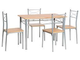 table et 4 chaises ensemble table 4 chaises sernan coloris gris hêtre vente de