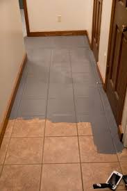 painting ceramic tile floor on porcelain floor tile peel and stick