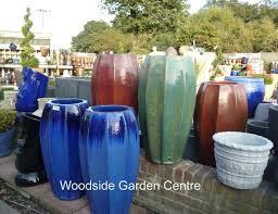 tall copper red star fruit glazed pot planter woodside garden