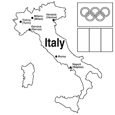 collection of landmarks around the world coloring pages at italy