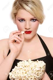 popcorn hairstyle beautiful blond plus size girl with stylish make up and hairstyle