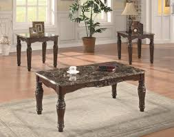 3 piece end table set coaster occasional table sets 3 piece traditional faux marble