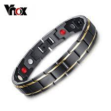 black man bracelet images Vnox black men 39 s health bracelets bangles magnetic h power jpg