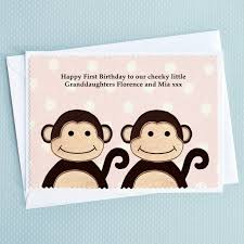 personalised twins birthday or new baby card by jenny arnott cards