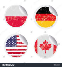 Different Flags In The World Set Round Labels Different Flags World Stock Vector 229782592