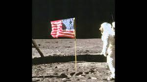 Flag With Tree And Moon Nasa U0027s Buzz Aldrin Moon Photo Is A Hoax Youtube