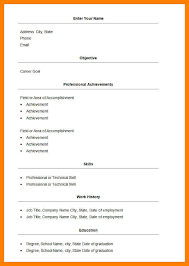 basic resume layouts 4 simple resume format in word simple cv formate