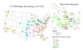 Map Of Ohio And Surrounding States by Ohio Recruiting Mgoblog