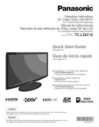 download free pdf for panasonic viera tc l32c12 tv manual