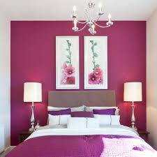 modern bright pink bedroom interior design with contemporary