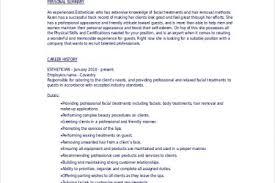 Esthetician Sample Resume by Esthetician Resume Sample No Experience Esthetician Resume Sample
