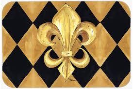 Fleur De Lis Kitchen Rugs Caroline U0027s Treasures Fleur De Lis New Orleans Kitchen Bath Mat