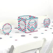 chevron gender reveal baby shower theme bigdotofhappiness com